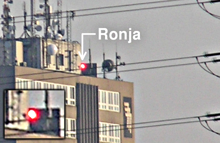 Ronja beam very close to a power line